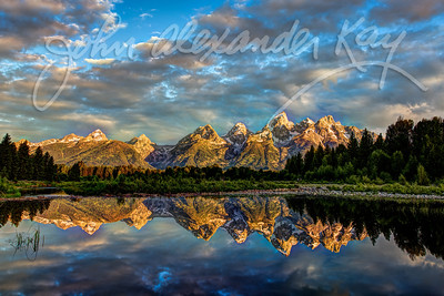 Cathedral Reflections - Grand Teton National Park