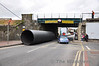 At lunchtime on Thursday 31st March there was a bridge strike of UBC145 in Portlaoise town when a Nolan Transport lorry carrying large pipes struck the bridge. One of the pipes fell off the back of the lorry. The 1300 Heuston - Cork was delayed for a short period of time while Iarnrod Eireann Per-Way staff cleared the bridge safe for traffic, Thurs 31.03.11