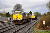 After uncoupling from 076, 075 waits for the signal on to the down line so it can run around.  Sat 02.04.11