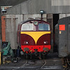 """Hunslet 102 """"Falcon"""" gets the sun in Whitehead RPSI yard 210112"""