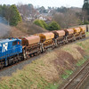 112 passes Causeway end road at Lisburn on the driver training run back to Antrim with 6 laden ballast hoppers 300112