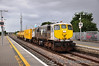 079 continues its tour of the IE network with the Sperry Train. On Wednesday 29th August 2012 it operated as a 1110 Limerick - Heuston Guinness Yard. It is pictured passing through Portlaoise on its way north.