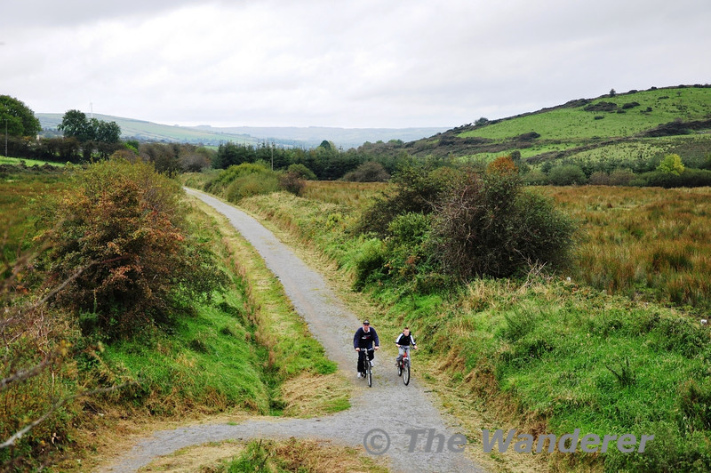 "The former North Kerry Line between Abbeyfeale and Rathkeale has been converted into a walking and cycling trial. For more information on the Great Southern Trial click on <a href=""http://www.southerntrail.net"">http://www.southerntrail.net</a> This view is looking towards Abbeyfeale from near Templeglantine. Sun 07.10.12"
