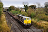 While all the action with 461 was happening in the yard 088 passed Portlaoise with the 1345 Kildare - Limerick Wagon Trial. The train is pictured at Clonkeen. The trial had operated from Limerick earlier that morning. Wed 07.11.12