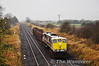 073 brings two timber wagons past Clonkeen with the 0910 Limerick - Inchicore Wagon Transfer. The train was 55 minutes late at this point due to the 0905 North Wall - Limerick Wagon Transfer having a loco failure before departure. Thurs 29.11.12