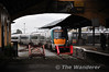 Looking through the Train Shed at 22040 which is waiting to form the 1345 to Dublin Heuston. To the left of that is 22016 which is stabled for the 1715 to Cork. Sun 07.10.12