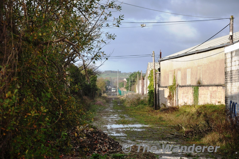 Looking above the aforementioned wall at Rock Street towards North Kerry Junction. The track has only been lifted within the last year as part of the Fenit Grenway project.  Sat 17.11.12