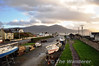 Overview of Fenit Station. The single platform is to the left. In the backround can be seen the Pier. Sat 17.11.12