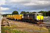 The Sperry test train is stabled in Portarlington for the night of Wednesday 22nd August 2012. It will head to Westport on Thursday morning. The two Water Tanks, from the Weedspray train are added to the train for brake force. Wed 22.08.12