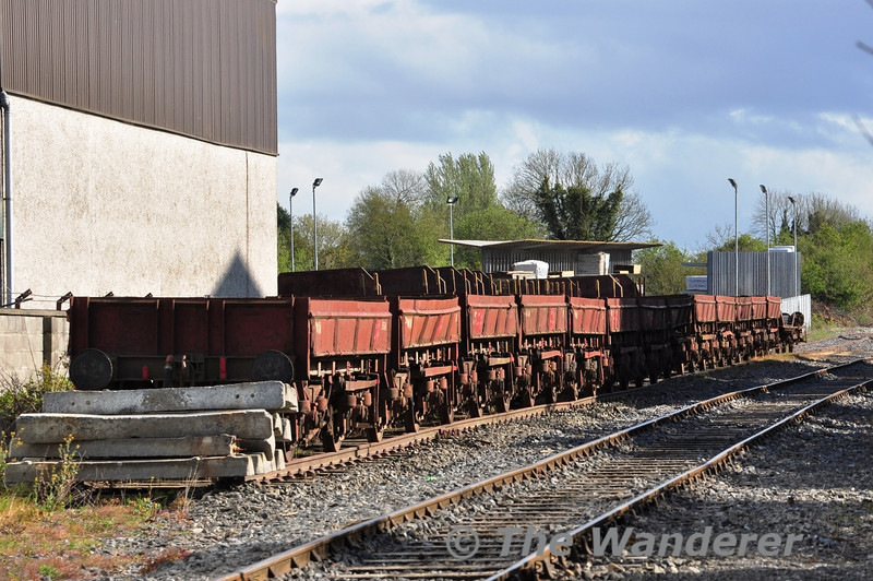 The former Barytes Wagons are now stored on a siding off the former line from Portlaoise to Kilkenny. When will the call to the scrapman beckon for these distinctive wagons? Mon 14.05.12