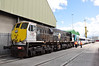 082 waits to haul 22010 + 22011 from the Common User Container terminal to Heuston Station. Tues 21.08.12