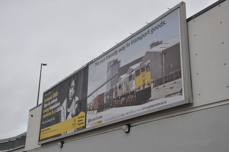 "Iarnrod Eireann Freight have recently started a Billboard campaign using one of my pictures <a href=""http://smu.gs/UhWZLD"">http://smu.gs/UhWZLD</a> (with permission). This billboard is at Laois Shopping Centre in Portlaoise. Other examples have appeared with Finnyus getting this photo outside Cork Kent Station: <a href=""http://www.flickr.com/photos/finnyus/8317834111/in/photostream"">http://www.flickr.com/photos/finnyus/8317834111/in/photostream</a> Wed 02.01.13"