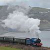 85 'MERLIN' Departs Whitehead with the 1532 Whitehead RPSI / Belfast Central test train. 160314