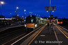 22040 pauses at Portadown with the 0744 Dundalk - Belfast Central Trial. Sun 12.01.14