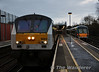 9003 awaits departure time with the 1000 to Dublin Connolly and 22040 has just arrived empty from Dundalk to conduct trials over the Bearing Acoustic Monitor near Adelaide. Sun 12.01.14