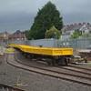A rake of NIR built spoil wagons at Ballymena PWD. Weds 14.06.17