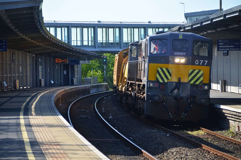 The Irish Rail Annual Weedkiller train visited Northern Ireland on Wednesday 10th May 2017, with Loco 077 in charge. Such visits of the 071 Class Locomotives to N.I. are now extremely rare. The train is pictured at Newry after arriving from Dundalk. Weds 10.05.17