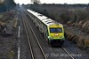 Set 4001 and Loco 218 were trialled from Inchicore to Mallow and back again on Thursday 19th January to test 218 after repairs at Inchicore. The loco had suffered two failures in the last week of December. The return test train is pictured at Clonkeen following close behind the 1220 Cork - Heuston. Thurs 19.01.17