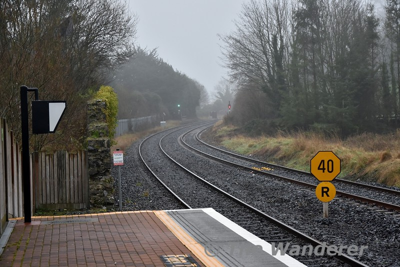 PSR board of 40mph with an R (reminder) board. First time I have noticed a R board used with a PSR, normally these are used with TSR boards. Sat 19.01.19