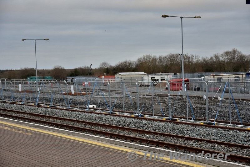 The new down platform at Limerick Jct. is making progress with the foundations now laid. Wed 02.01.19
