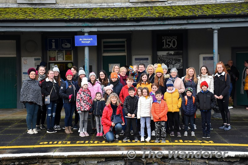 The North Tipperary Rail Partnership trips to Limerick concluded today with the Nenagh group travelling into Limerick. Here we see some of the group waiting to depart Nenagh for Limerick. Sat 04.01.20