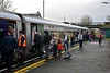 Customers boarding the 1005 Ballybrophy - Limerick service at Nenagh. Sat 04.01.20