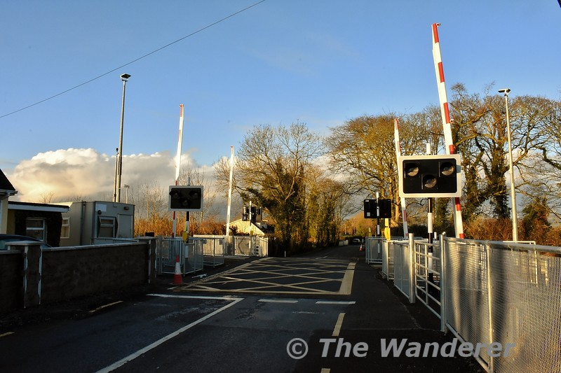 Monard Level Crossing in the Dromkeen - Limerick Jct. section was upgraded to a 4 barrier CCTV Level Crossing between 9th and 12th December 2019. The upgraded crossing is pictured here on Sunday 12th January 2020. Sun 12.01.20