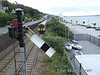 The DMU passes the advance starter at Cobh with the 1330 service to Cork. Mon 29.09.08