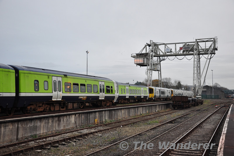 Withdrawn members of the 2700 Class at Limerick. 2715 + 2724, 2709 + 2710, 2751 and 2719 + 2722.  Sun 11.11.12