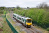 2719 + 2722 depart Roscrea with the 1050 Ballybrophy - Limerick IRRS Special. Sat 31.03.12