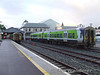 2712 + 2711 make their Killarney station stop on the 0525 Tralee - Cobh while 2714 + 2713 stand in the siding. Mon 02.07.07