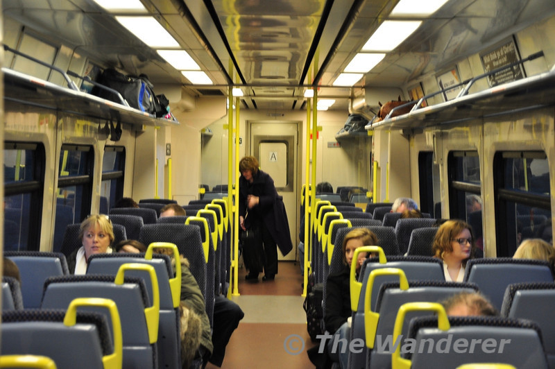 Interior of 2710 working the 1705 Athlone - Galway. Sat 11.02.12