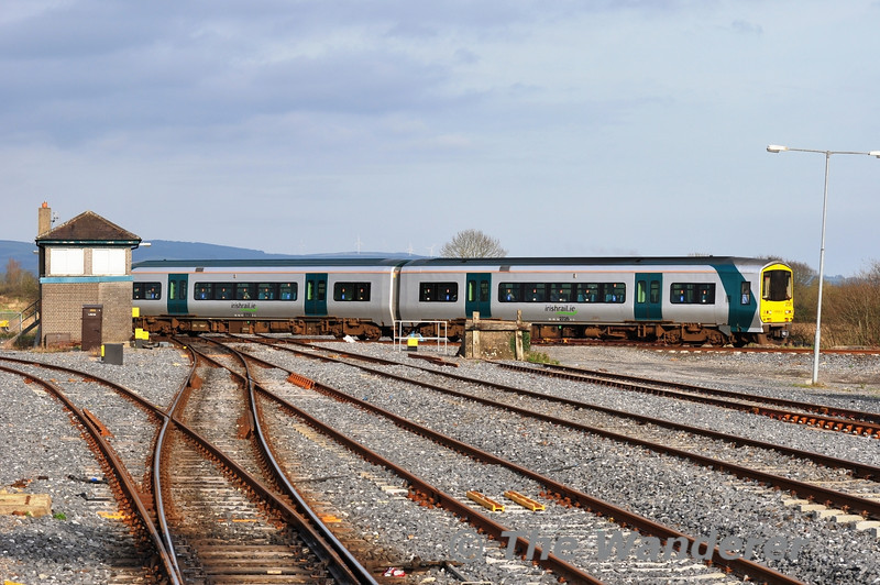 The 1355 Limerick Jct - Waterford service crosses over the flat crossing with the Dublin - Cork Mainline by Limerick Jct North Cabin. Fri 03.02.12