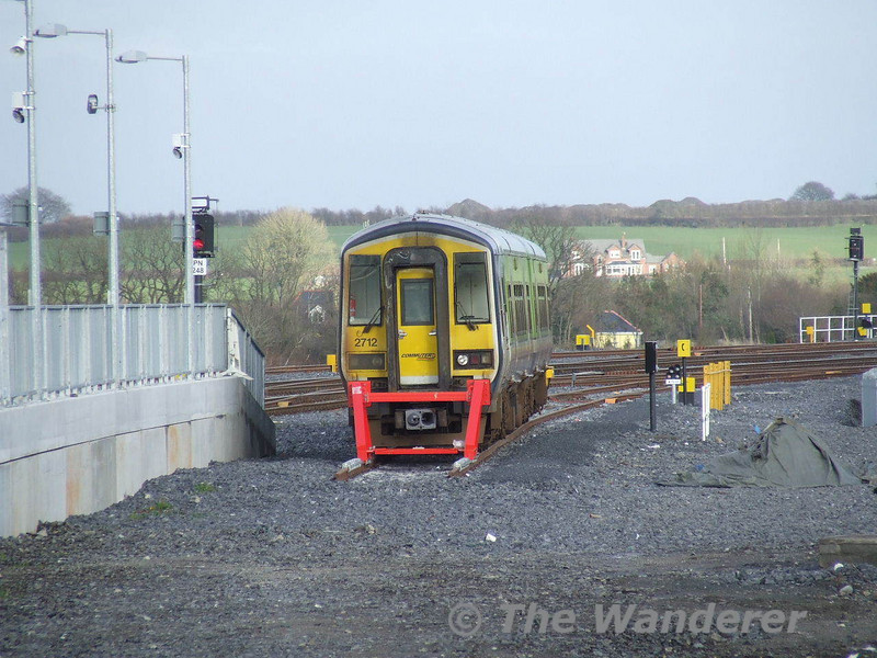 2711 + 2712 are seen stabled in Portarlington on their way from Cork to Inchicore / Drogheda. Fri 28.03.08