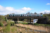 The 1140 Waterford - Limerick Jct service formed of soon to be withdrawn 2719 + 2722 crosses Dunkitt Viaduct, near Waterford. Sat 07.04.12