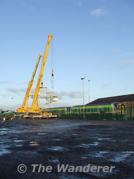 Two Cranes and 2 2700's at Limerick. Sat 06.01.07