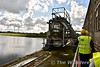 This machine is used to remove debris from the water. Metal grills filter the water before it enters the penstocks which takes water to the turbines. Mon 15.08.17