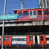 At Canning Town, the DLR operates on 4 different platforms. The first two being where I am stood and the second two, on the high level. In between, the Underground operates also. Weds 18.04.18