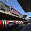 High Level & Low Level platforms at Canning Town. Weds 18.04.18