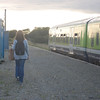 One passenger leaves the train at Ballycullane 170910