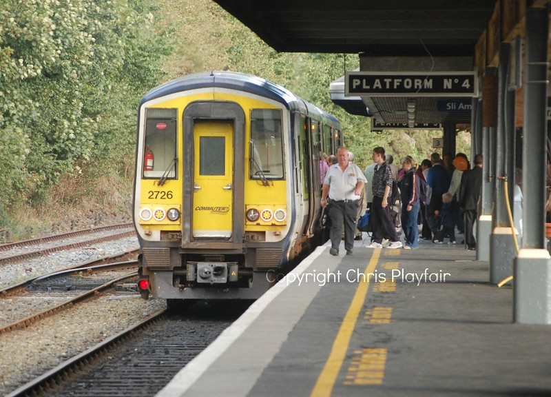 2726 having worked the 1510 from Limerick Jctn will then work the 1720 to Rosslare Europort 170910