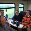 Happy passengers on board the 2nd last service from Waterford to Rosslare 170910