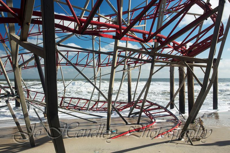 Seaside Park, Collapsed Coaster on Funtown Pier