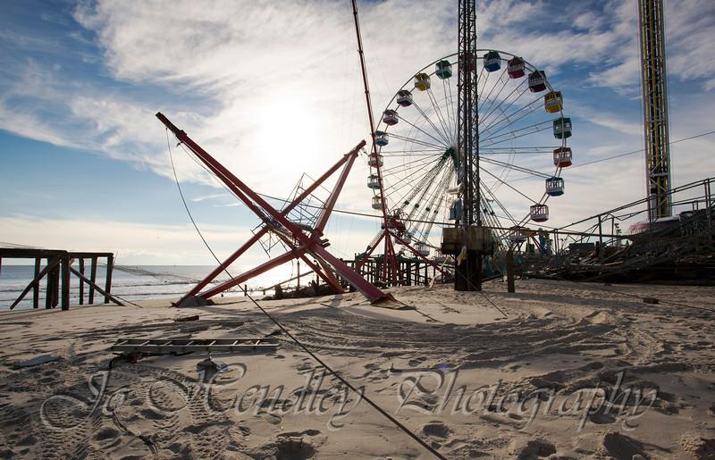 Seaide Park Rides, Funtown Pier,After Sandy,  NJ