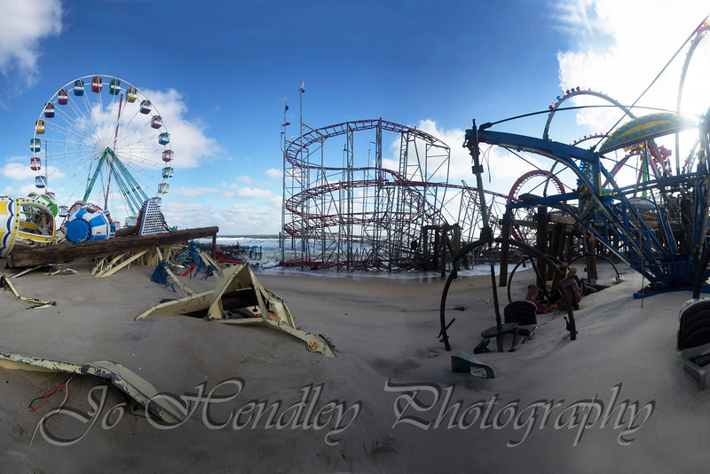 Pano of the Rides- Funtown Pier, Seaside Park, Nj