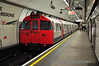 Victoria 67 Stock train leaves Oxford Circus. Sat 15.05.10