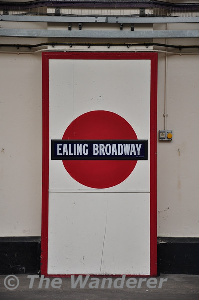 An Underground Station name from a different era at Ealing Broadway. Sun 15.05.11