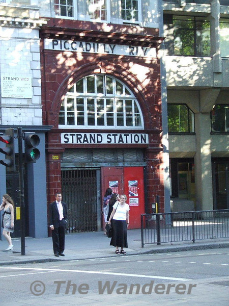 The closed Underground Station at Aldwych. This station closed in 1994 as the lift was life expired and passenger numbers didn't justify the branch from Holborn being kept open. Wed 01.07.09
