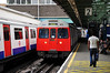 C Stock 5572 leads a Hammersmith and City Line train into Whitechapel bound for Barking. Mon 16.05.11