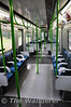 Interior of a D78 stock train as used on the District Line. Mon 16.05.11